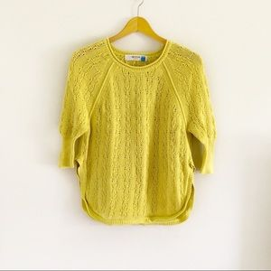 Anthropologie Sparrow Yellow Knit Sweater